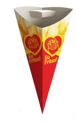 Cone Para Batata Fritas Grande - 100 Unidades