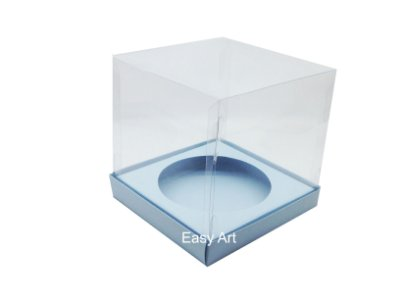 Caixa para Mini Panetones - Azul Claro
