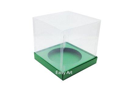 Caixa para Mini Panetones - Verde Bandeira