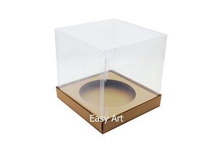 Caixa para Mini Panetones - Marrom Claro
