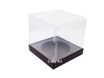 Caixa para Mini Panetones - Marrom Chocolate