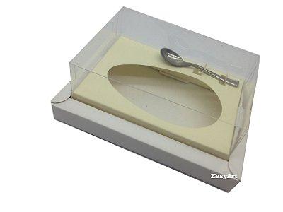 Caixa para Ovos de Colher 250g Branca / Marfim