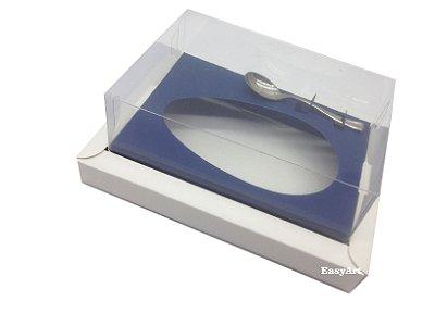 Caixa para Ovos de Colher 250g Branco / Azul Marinho