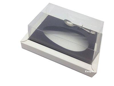 Caixa para Ovos de Colher 250g Branco / Preto