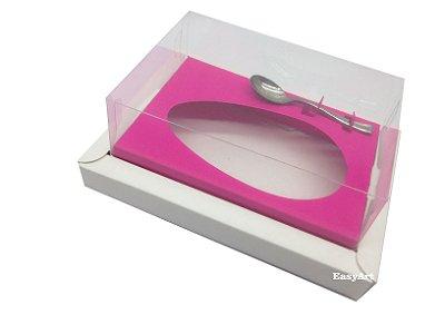 Caixa para Ovos de Colher 250g Branco / Pink