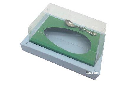 Caixa para Ovos de Colher 250g Azul Claro / Verde Bandeira