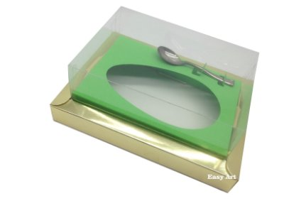 Caixa para Ovos de Colher 250g Dourado / Verde Pistache