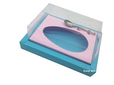 Caixa para Ovos de Colher 250g Azul Tiffany / Rosa Claro