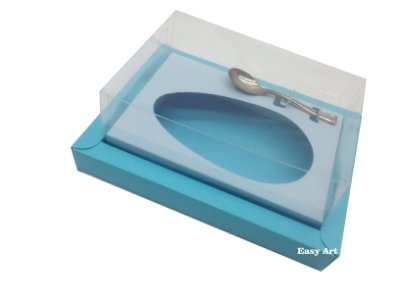 Caixa para Ovos de Colher 250g Azul Tiffany / Azul Claro