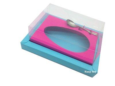 Caixa para Ovos de Colher 250g Azul Tiffany / Pink