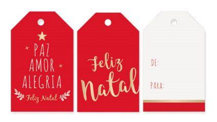 Tags para Composê - Natal Mágico / Pacote com 12 Unidades