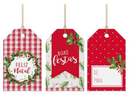 Tags para Composê - Tradição / Pacote com 12 Unidades