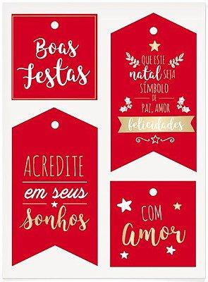 Tags para Composê Destacáveis - Natal Mágico / Pacote com 03 Unidades
