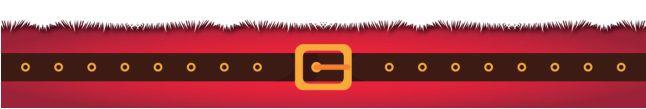 Cinta para Mini Panetone - Modelo Cinto Noel