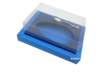 Caixa para Ovos de Colher 250g Azul Turquesa / Azul Marinho
