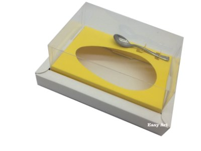 Caixa para Ovos de Colher 250g Branco / Amarelo
