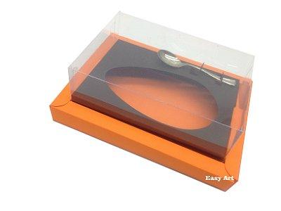 Caixa para Ovos de Colher 250G Laranja / Marrom Chocolcate
