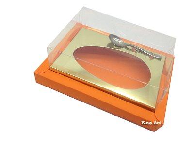 Caixa para Ovos de Colher 250g Laranja / Dourado