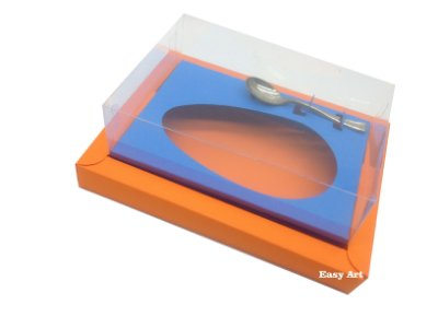 Caixa para Ovos de Colher 250g Laranja / Azul Turquesa