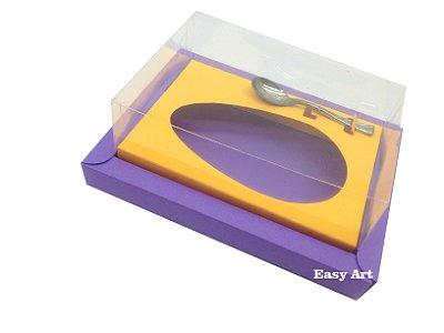 Caixa para Ovos de Colher 250g Lilás / Laranja Claro