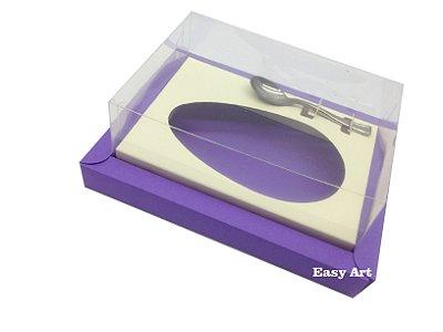 Caixa para Ovos de Colher 250g Lilás / Marfim