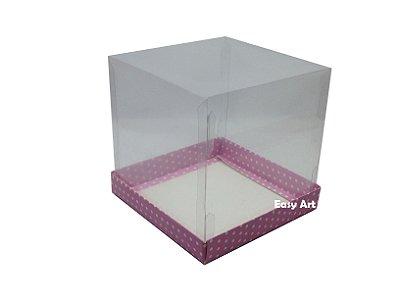 Caixinhas para Mini Panetones / Mini Bolos - Rosa Poás Brancas