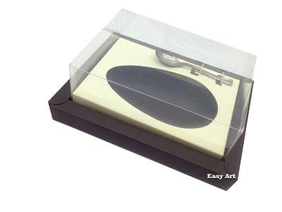 Caixa para Ovos de Colher 250g Marrom / Marfim