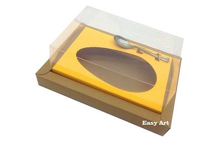 Caixa para Ovos de Colher 250g Marrom Claro / Laranja Claro