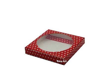 Caixa para Biscoitos / Porta copos - Vermelho com Poás Brancas