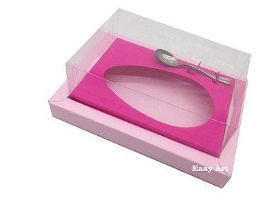Caixa para Ovos de Colher 250g Rosa Claro / Pink