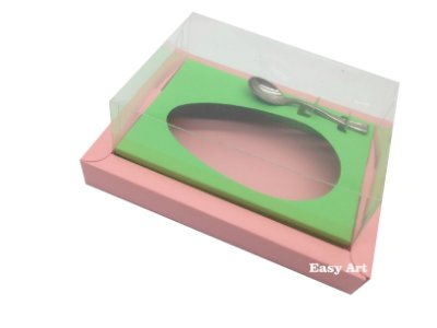 Caixa para Ovos de Colher 250g Salmão / Verde Pistache