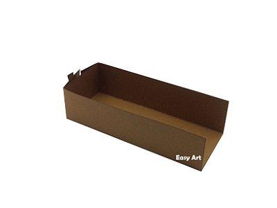Embalagem para Fudje / Mini Churros - Marrom Claro