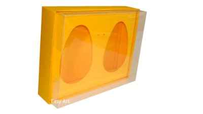 Caixas 2 Ovos de Colher de 500g Cada - Laranja Claro