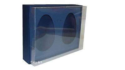 Caixas 2 Ovos de Colher de 500g Cada - Azul Marinho