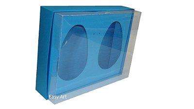 Caixas 2 Ovos de Colher de 500g Cada - Azul Turquesa