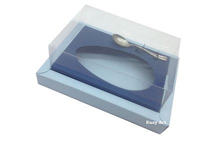 Caixa para Ovos de Colher 500g - Azul Claro / Azul Marinho