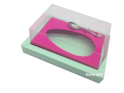 Caixa para Ovos de Colher 250g Verde Claro / Pink