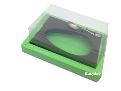 Caixa para Ovos de Colher 250g Verde Pistache / Marrom