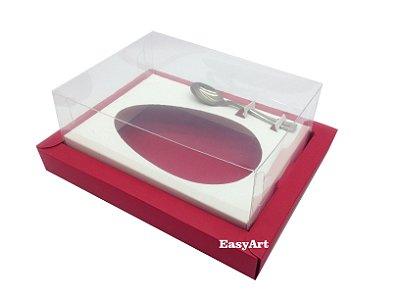 Caixa para Ovos de Colher 250g Vermelho / Branco