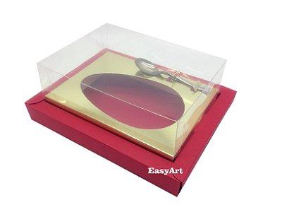 Caixa para Ovos de Colher 250g Vermelho / Dourado
