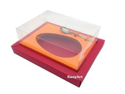 Caixa para Ovos de Colher 250g Vermelho / Laranja