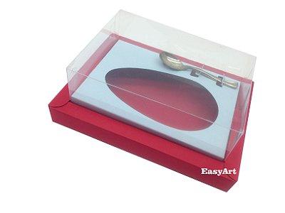 Caixa para Ovos de Colher 250g Vermelho / Azul Claro