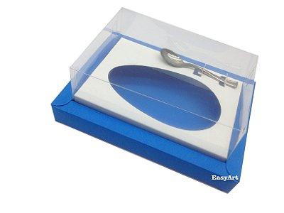 Caixa para Ovos de Colher 500g Azul Turquesa / Branco