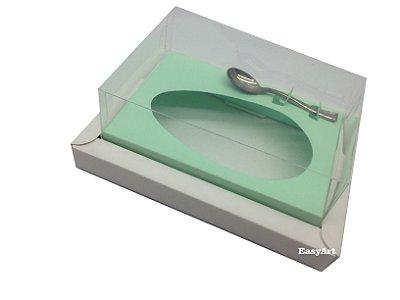 Caixa para Ovos de Colher 500g Branco / Verde Claro