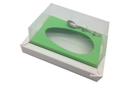 Caixa para Ovos de Colher 500g Branco / Verde Pistache