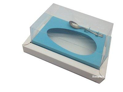 Caixa para Ovos de Colher 500g Branco / Azul Tiffany