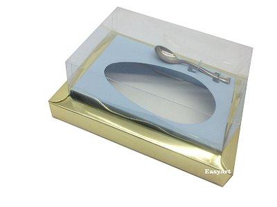 Caixa para Ovos de Colher 500g Dourado / Azul Claro
