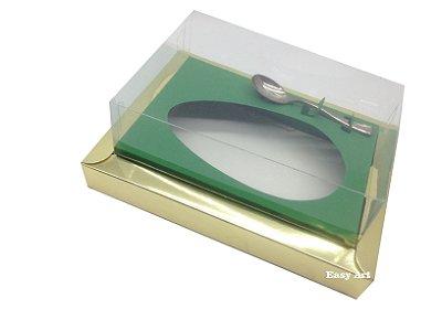 Caixa para Ovos de Colher 500g Dourado / Verde Bandeira