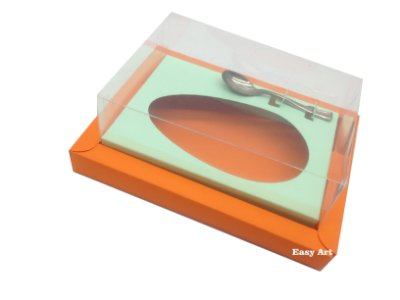 Caixa para Ovos de Colher 500g Laranja / Verde Claro