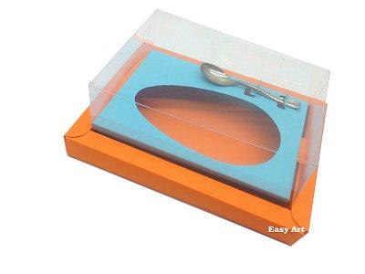 Caixa para Ovos de Colher 500g Laranja / Azul Tiffany